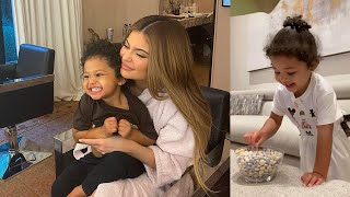 Kylie Jenner's Daughter Stormi Does the Candy Challenge PERFECTLY!