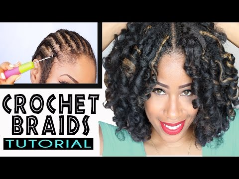 Crochet Braids No Hook : How To: CROCHET BRAIDS w/ MARLEY HAIR ! (ORIGINAL no-rod technique!)