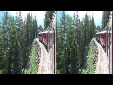Bernina Express - St.Moritz-Tirano in 3D ____ Juni 2013 (yt3D)