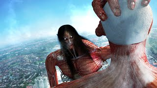 Eren founding titan FINAL FORM vs Armin Colossal titan in live-action