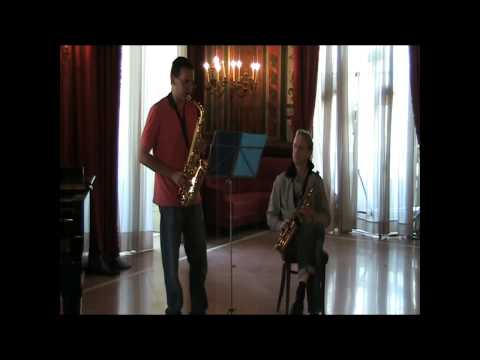 Arno Bornkamp 2010 Saxophone masterclass at Casino Sociale Lesson on Creston Sonata, Op. 19 part 3
