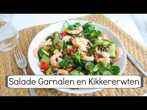 Gezond en Makkelijk Recept: Salade Garnalen en Kikkererwten