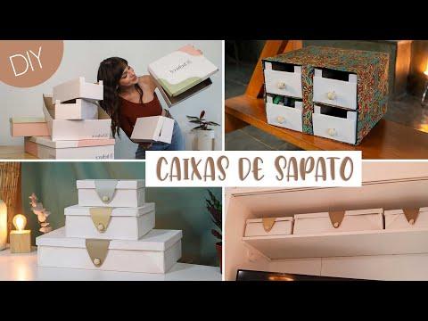DIY Organizadores c/ Caixas de Sapato!