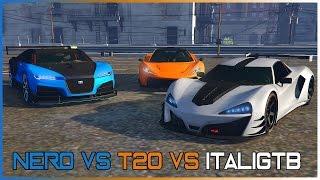 TRUFFADE NERO VS PROGEN T20 VS PROGEN ITALIGTB (TEST DE VITESSE) DLC IMPORT EXPORT GTA 5 ONLINE