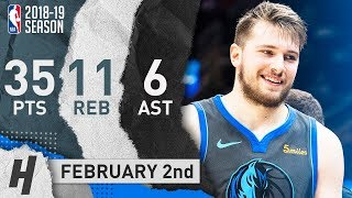 Luka Doncic Full Highlights Mavericks vs Cavaliers 2019.02.02 - 35 Pts, 11 Reb, 6 Assists