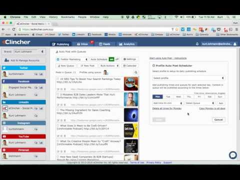 Auto Post and recycle content with eClincher