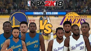 NBA 2K18 - Golden State Warriors vs. Los Angeles Lakers (LeBron,CP3,Kawhi,George) - Full Gameplay