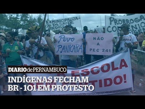 Ind�genas fazem protesto contra PEC 241