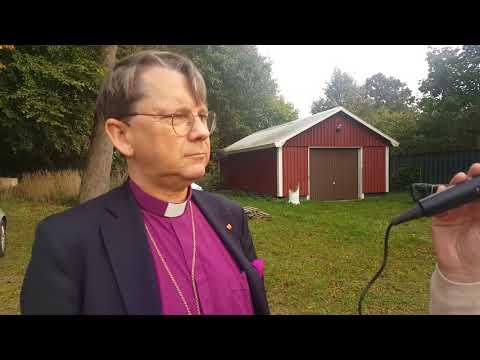 Biskop Johan på biskopsvisitation på Österlen