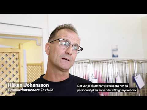 Textilia och Samhalls samarbete på tvätteriet i Göteborg