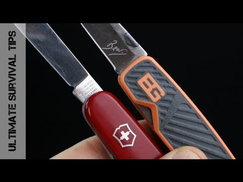 Victorinox Swiss Army Knife Vs Bear Grylls Pocket Tool