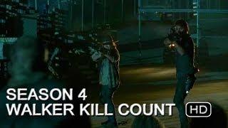 The Walking Dead | Season 4 Walker Kill Count (HD)