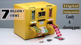 how to make Candy Vending Machine at home || E-Motorised , Coin & ATM supported