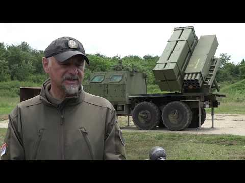 Serbia demonstrates new domestically produced artillery rocket system