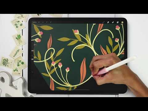 Easy Floral Borders in Procreate