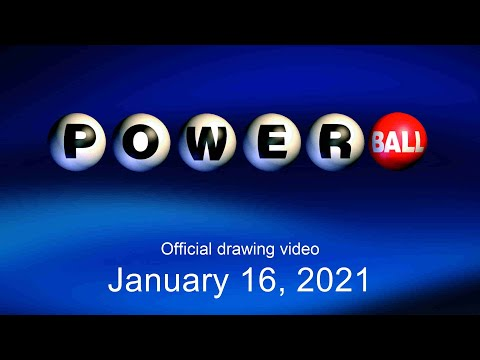 Powerball drawing for January 16, 2021