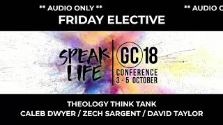 GC Conference 2018 Fri Elective - Theology Think Tank - Caleb Zech David