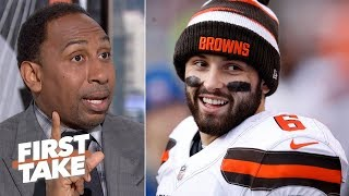 Baker Mayfield won't lead the NFL's most exciting offense, Mahomes will - Stephen A. | First Take