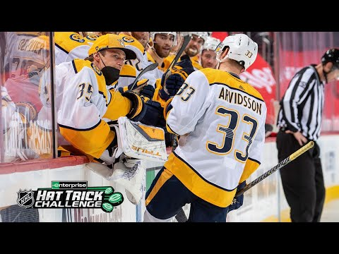 Arvidsson's Hat Trick helps lift Predators over Red Wings