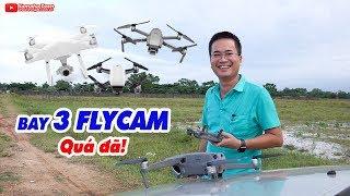 Thử thách âm thanh đã tai khi bay 3 Flycam: Mavic 2 Pro, Phantom 4 Pro, Spark