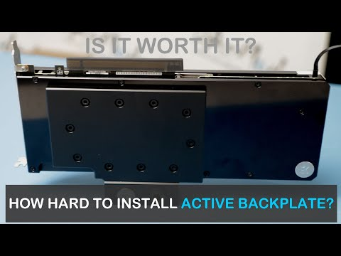 GPU Active Backplate Installation and Test Results