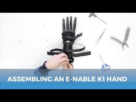 Assembling an e-NABLE K1 Hand