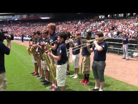 Detroit Symphony Orchestra's Civic Jazz Orchestra Plays the National Anthem on July 20, 2014