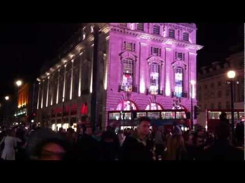 Amazing Piccadilly Circus London by Night 2012