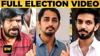 LIVE VIDEO: TR, Anirudh, Siddharth & Other Kollywoods Celebs Cast Their Vote | Elections 2019