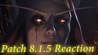 WoW BFA 8.1.5 Reaction  - Horde Campaign Jaina meets Derek | World of Warcraft Battle for Azeroth
