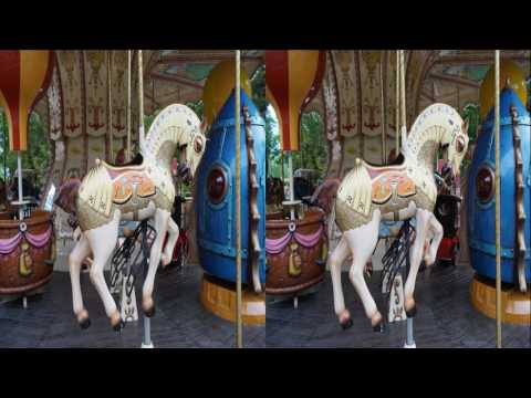 Amusement Park 3D ! Relaxation and Meditation ! ( PART 1 ) ! 3D VIDEO