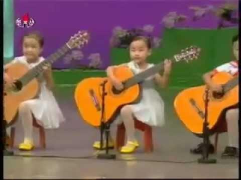 north korea children playing the guitar youtube. Black Bedroom Furniture Sets. Home Design Ideas