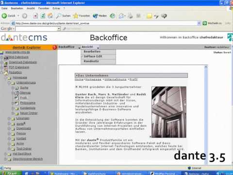 dante cms 10 Jahre in 1 Minute