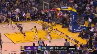 ANDRE IGOUDALA THROWS HAMMER / Feb.3,2019 GSW VS LAL