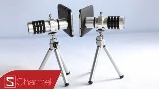 Schannel - Phụ kiện Lens Zoom 12x dành cho Galaxy S4, iPhone 5, HTC One, Note 2... - CellphoneS