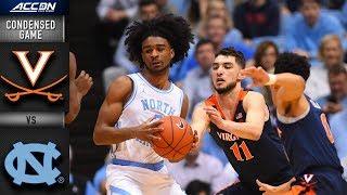 Virginia vs. North Carolina Condensed Game   2018-19 ACC Basketball