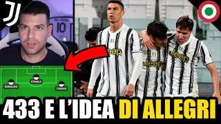 Allegri e l'idea del tridente da sogno: 433 con Dybala, Chiesa e Cristiano Ronaldo! ⚠️