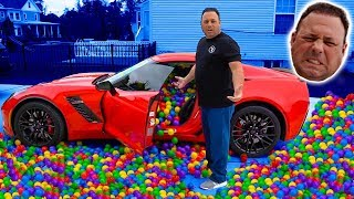 INSANE PLASTIC BALL PRANK ON DAD'S Z06