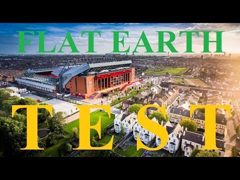 Liverpool Stadium Flat Earth photography test by Exploring the Plane ✅
