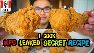 "I cooked KFC leaked ""Secret Recipe"" 