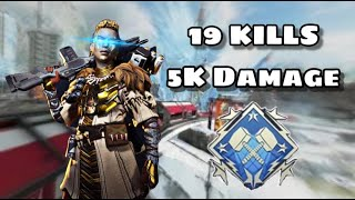 19 KILL 5K DMG GAME! - XBOX ONE APEX LEGENDS
