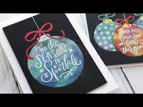 Holiday Card Series 2019 – Day 14 – Painted Ornaments