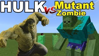 HULK vs MUTANT ZOMBIE | Minecraft PE