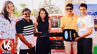 Nag Presents Ford Car to Badminton Player Sikki Reddy..