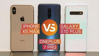 OnePlus 7 Pro vs. Galaxy S10 Plus vs. iPhone XS Max: ¿Cuál comprar?