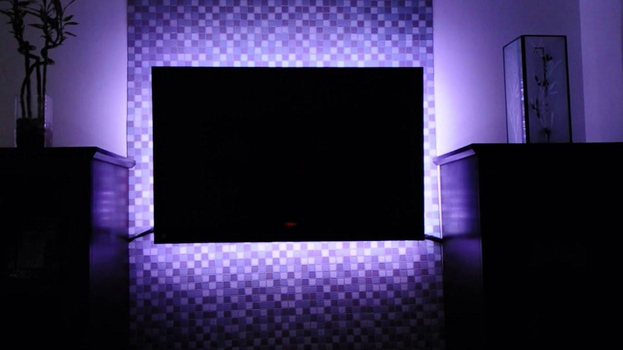 Led Tv Backlighting Multicolored Led Light Kit With Remote Youtube