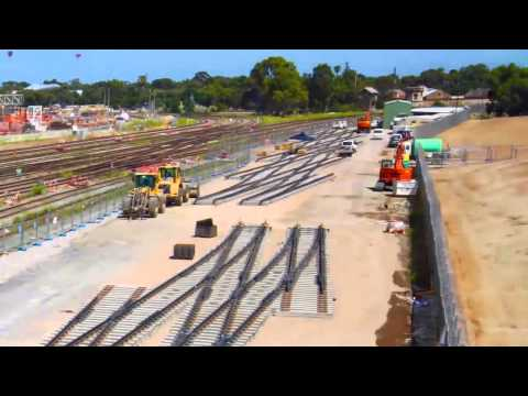 Pre Fabrication of Nairne Junction track at Adelaide Rail Yards