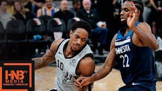 Minnesota Timberwolves vs San Antonio Spurs Full Game Highlights | 12/21/2018 NBA Season