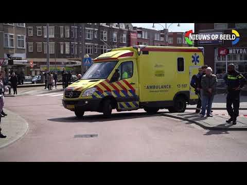 Man overleden na sprong uit brandende woning Hilledijk Rotterdam 13-04-19 photo