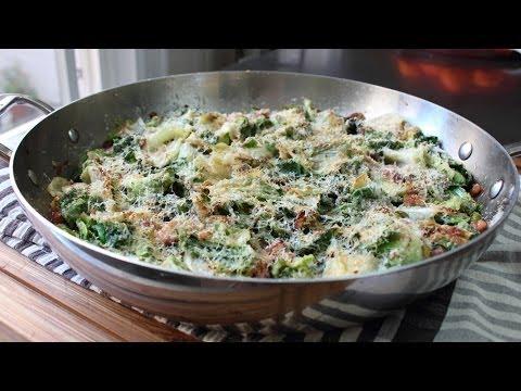 Utica Greens & Beans - Escarole Gratin with Beans Recipe -